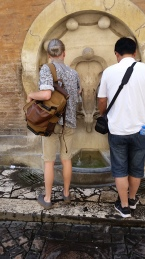 SPQR; Fountains everywhere meant free water as long as you've got a bottle