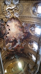Ceiling inside the Church of the Gesu; Triumph of the Name of Jesus