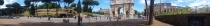 Panoramic View of the Colosseum and the Arch of Constantine