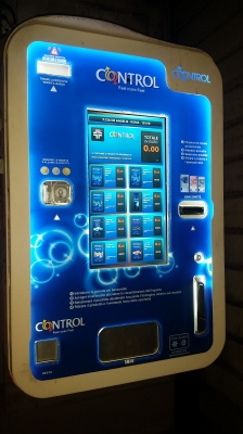 Protect yourself....Condom vending machine. There was a brothel on the same street.