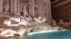 Terrible photo of the very crowded Trevi Fountain