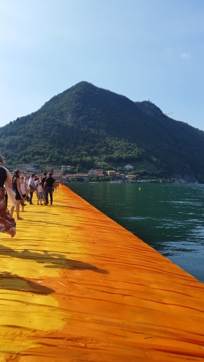 Floating Piers at Lago D'Iseo