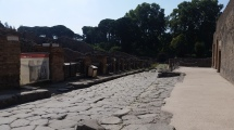 Pompeiian Street; Stepping Stones in Distance